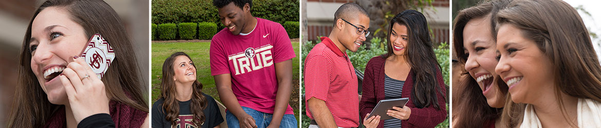 Images of students on campus