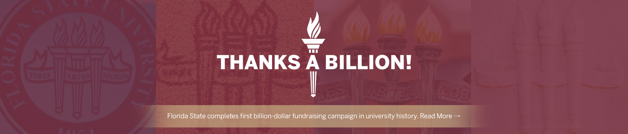 Florida State completes first billion-dollar fundraising campaign in university history. Read More →