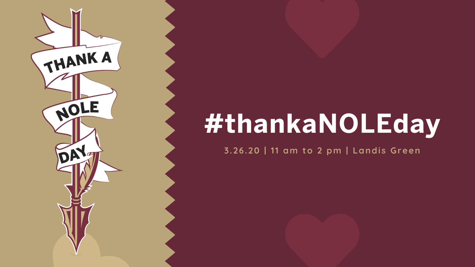 Image of Thank a Nole Day vertical logo