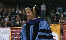 Dr. Nancy Marcus at graduation