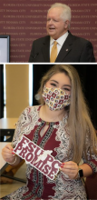 Student Government President Lucy Rodriguez and FSU PC Dean Randy Hanna