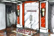 An artist's rendition of the Dedman School of Hospitality's Marriott Career Center.